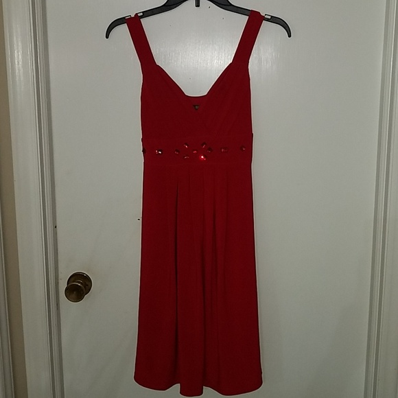 Bisou Bisou Dresses & Skirts - Beautiful red dress with gems
